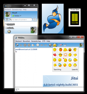Jitsi screenshot (Evert)