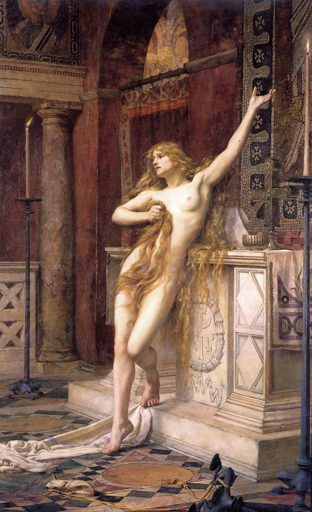 Hypatia - Charles William Mitchell, 1885