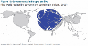 world map resized by government spending in 2009