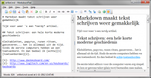 Screenshot of MarkdownPad