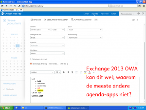 exchange can do rich text and attachments (2013)