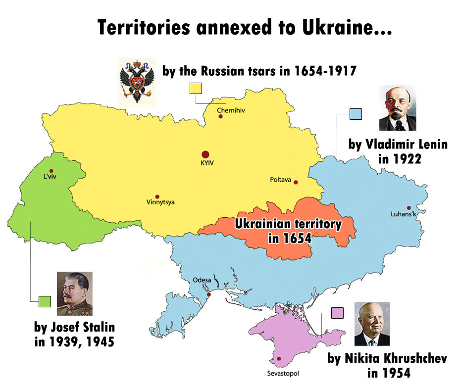 Ukraine terrritories. Source unknown to me, but possibly Dr. Paul Craig Roberts in Is Ukraine Drifting Toward Civil War And Great Power Confrontation? (2014-02-22).