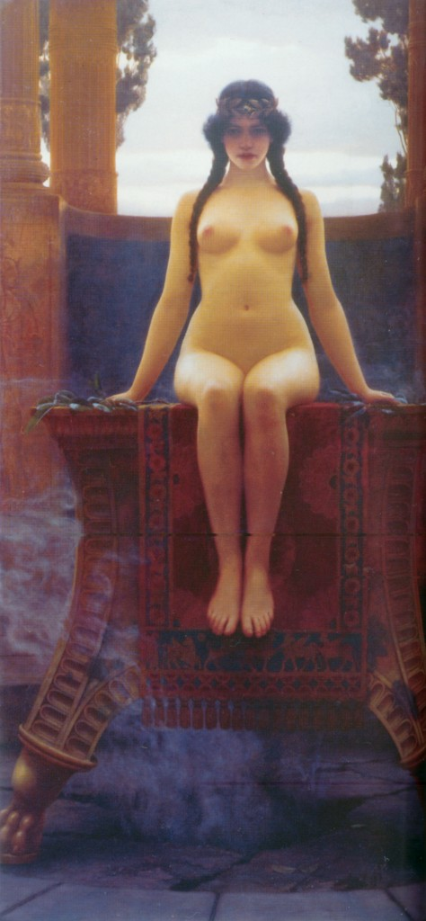 The Delphic Oracle - John William Godward (1899)