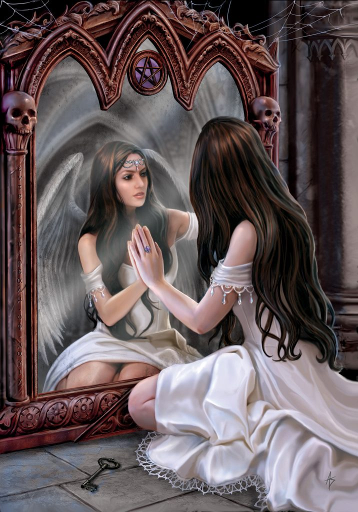 Magickal Mirror angel by Anne Stokes