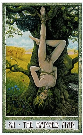 The Hanged Man from the Druid Craft Tarot