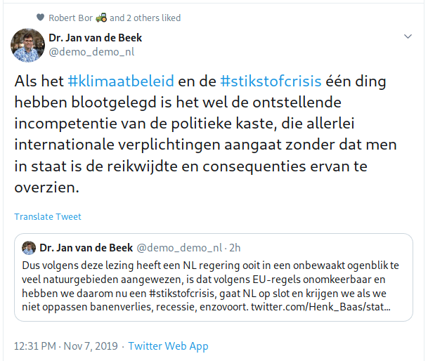 Dr. Jan van de Beek over Natura 2000.