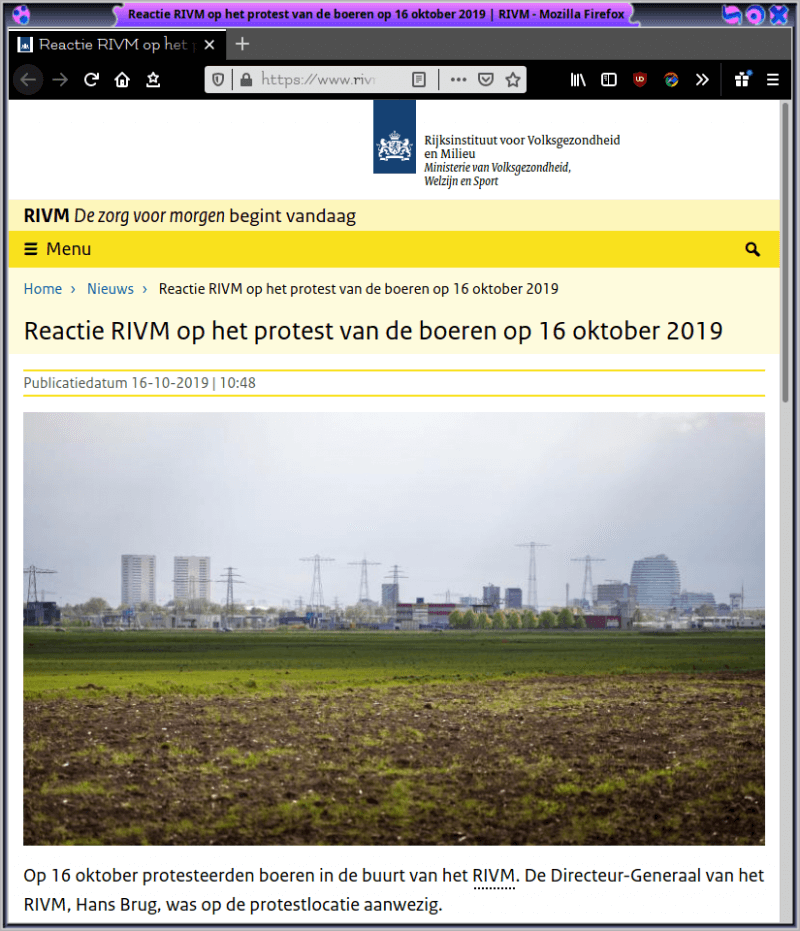 screenshot website rivm